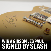 WIN A GIBSON LES PAUL SIGNED BY SLASH!