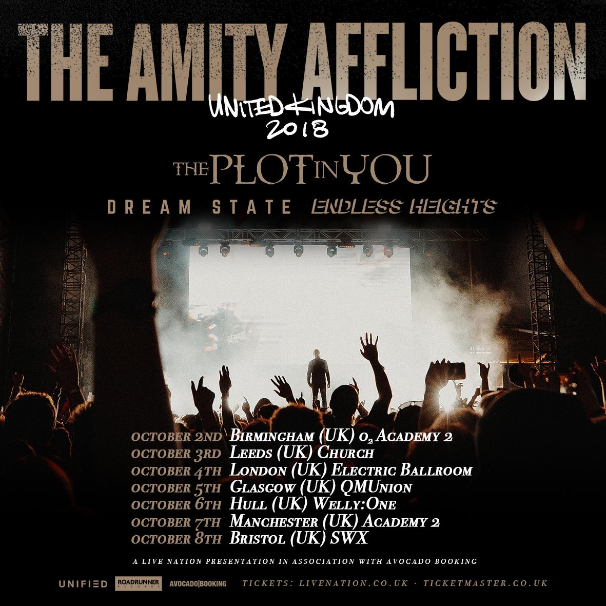 Roadrunner Records UK // The Amity Affliction announce UK headline